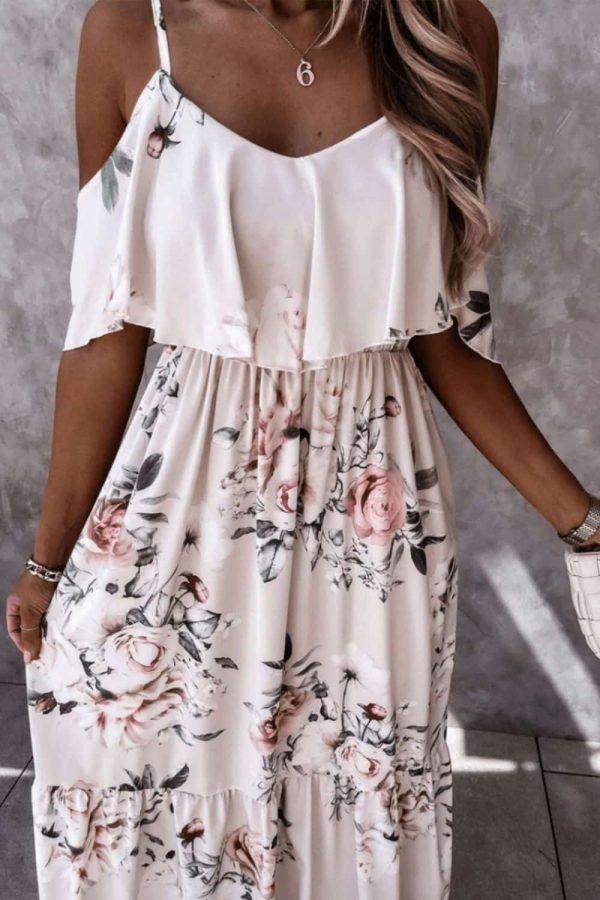 cold shoulder maxi dress,